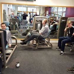 group of people in the gym